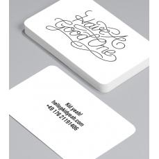 Смели Визитки с обли ъгли 100 броя вариант (20006)