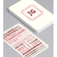 Смели Визитки с обли ъгли 100 броя вариант (20057)