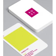 Смели Визитки с обли ъгли 100 броя вариант (20128)